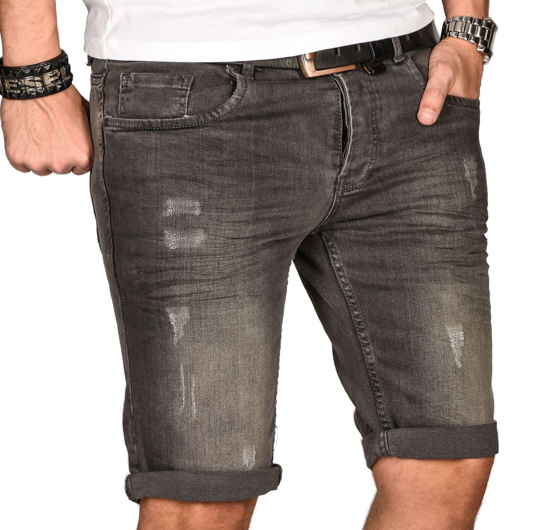 A-Salvarini-Herren-Designer-Jeans-Short-kurze-Hose-Slim-Sommer-Shorts-Bermuda Indexbild 12