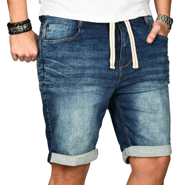 Sublevel-Herren-Shorts-Sweat-Jeans-kurze-Hose-Bermuda-Sommer-Short-Sweathose Indexbild 8
