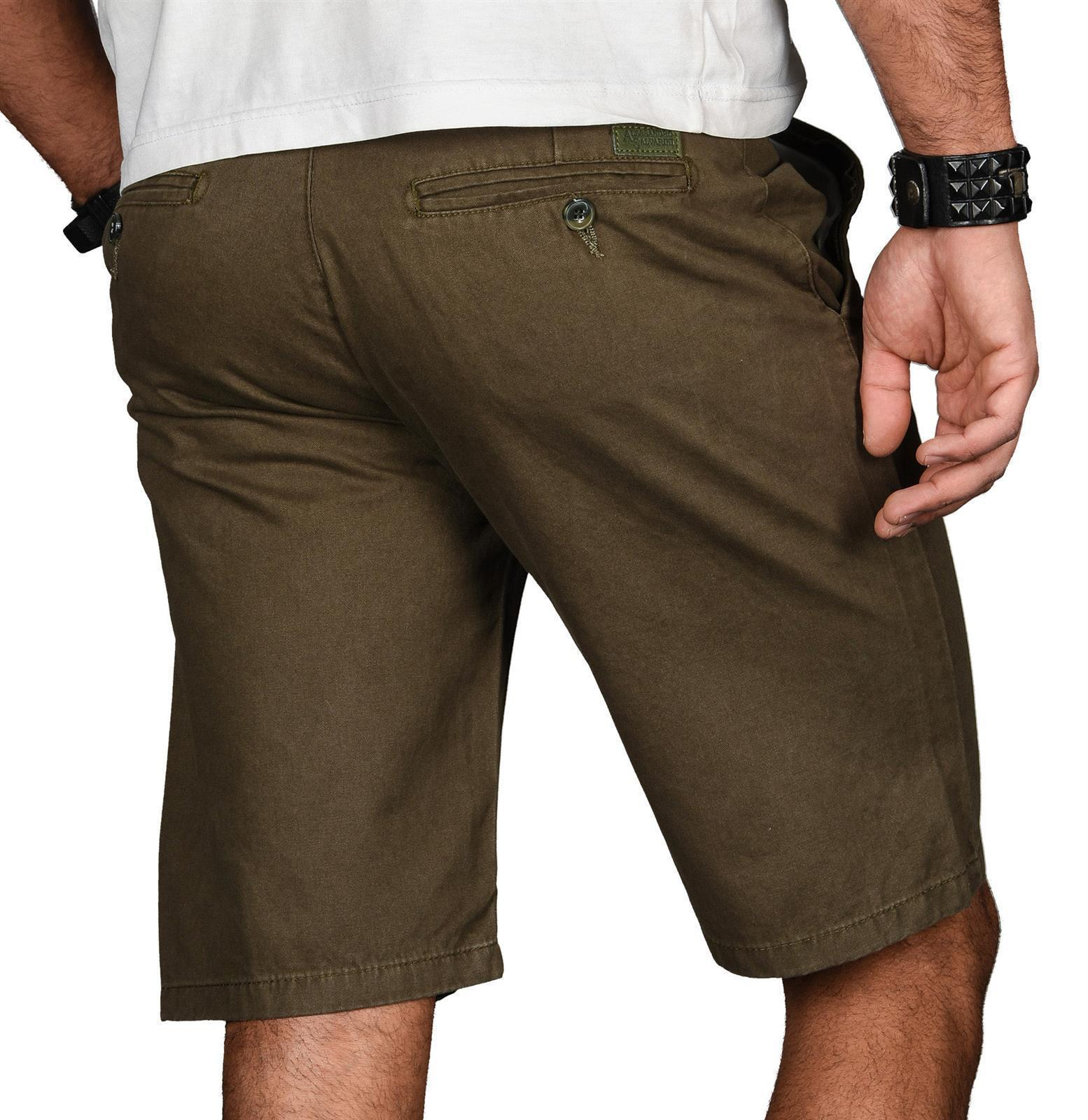 A-Salvarini-Herren-Shorts-kurze-Sommer-Hose-mit-Guertel-Short-Bermuda-NEU-AS096 Indexbild 38