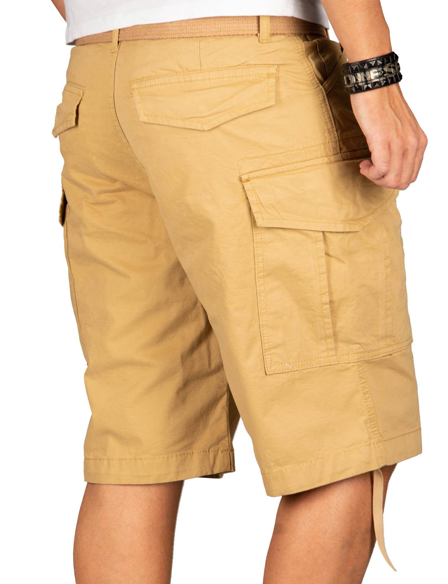 A-Salvarini-Herren-Comfort-Cargo-Shorts-Cargoshorts-kurze-Hose-Guertel-AS133-NEU Indexbild 28