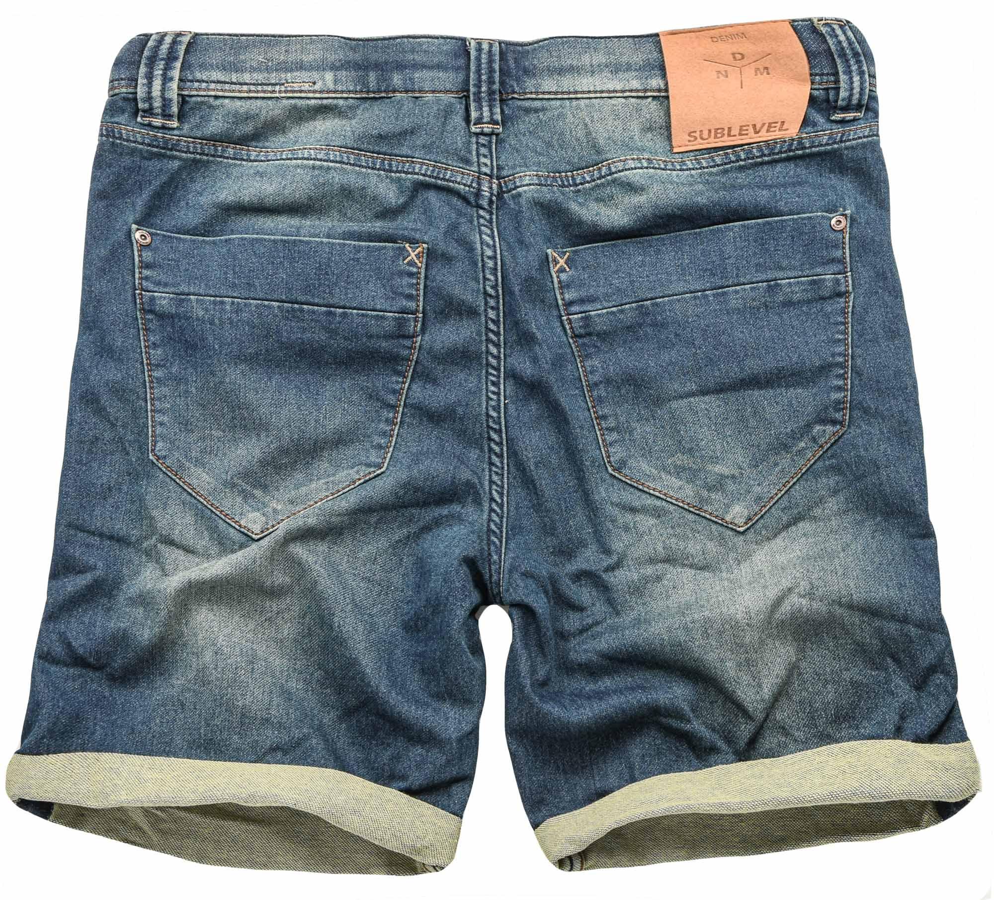 Sublevel-Herren-Sweat-Jeans-Shorts-kurze-Hose-Bermuda-Sommer-Sweathose-Slim-NEU Indexbild 9