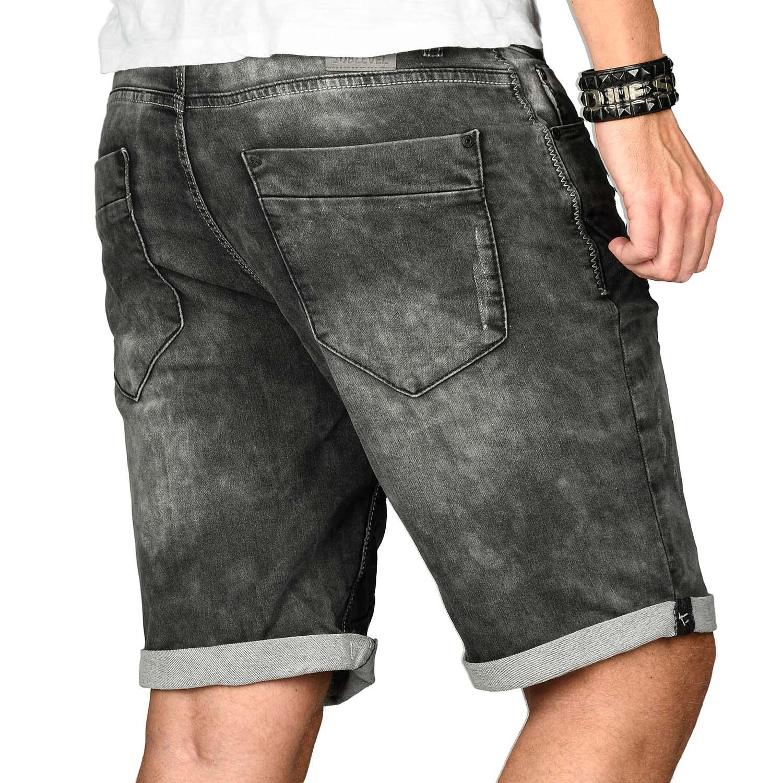 Sublevel-Herren-Shorts-Sweat-Jeans-kurze-Hose-Bermuda-Sommer-Short-Sweathose Indexbild 29