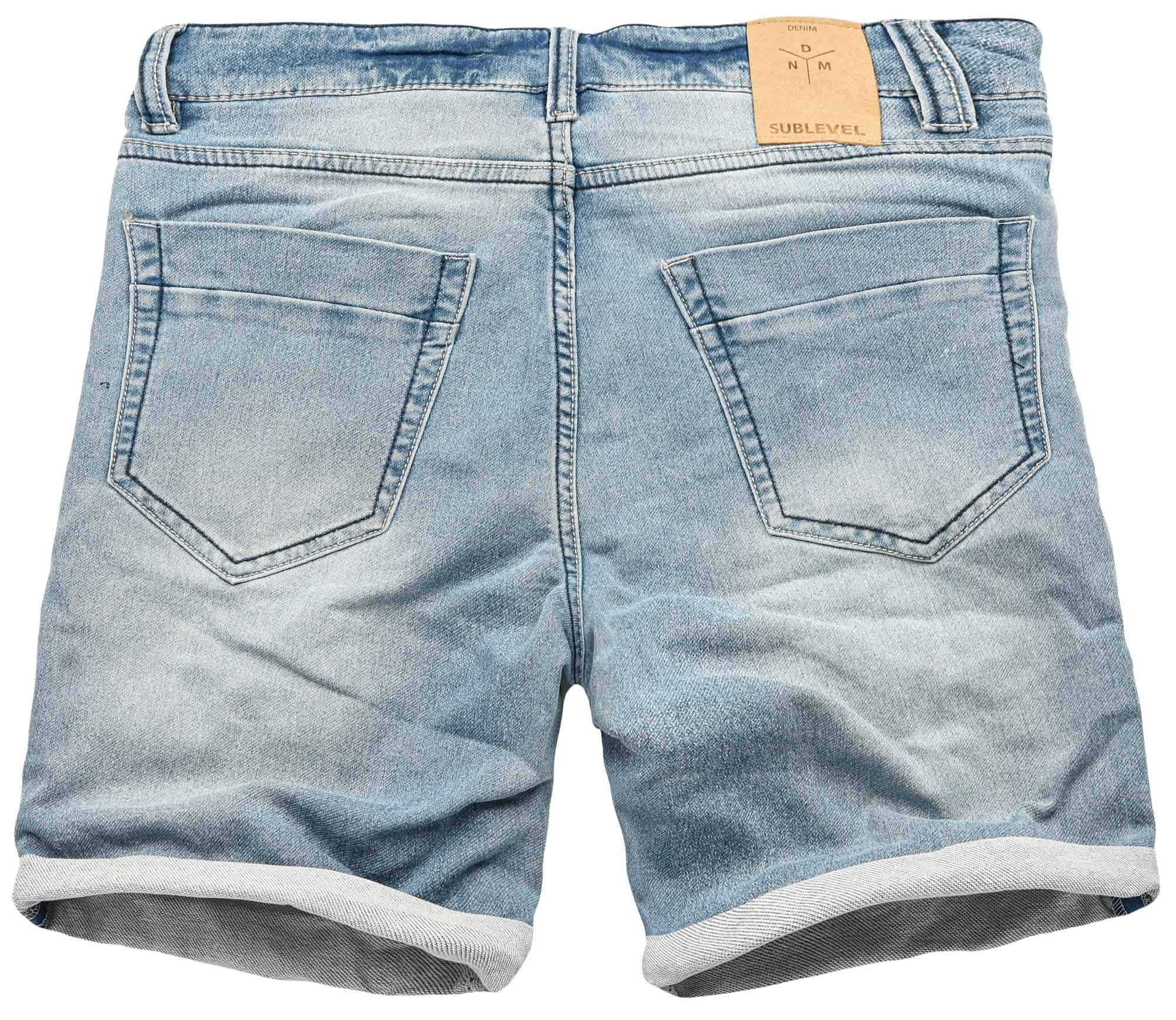 Sublevel-Herren-Sweat-Jeans-Shorts-kurze-Hose-Bermuda-Sommer-Sweathose-Slim-NEU Indexbild 18