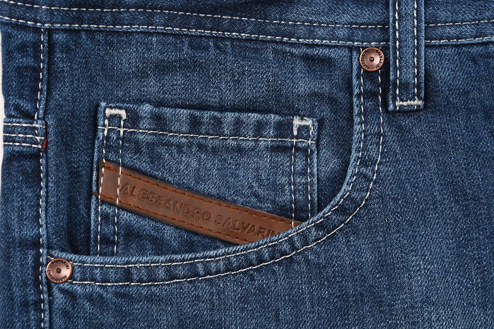 A-Salvarini-Designer-Herren-Jeans-Short-kurze-Sommer-Hose-Jeansshorts-Bermuda Indexbild 14