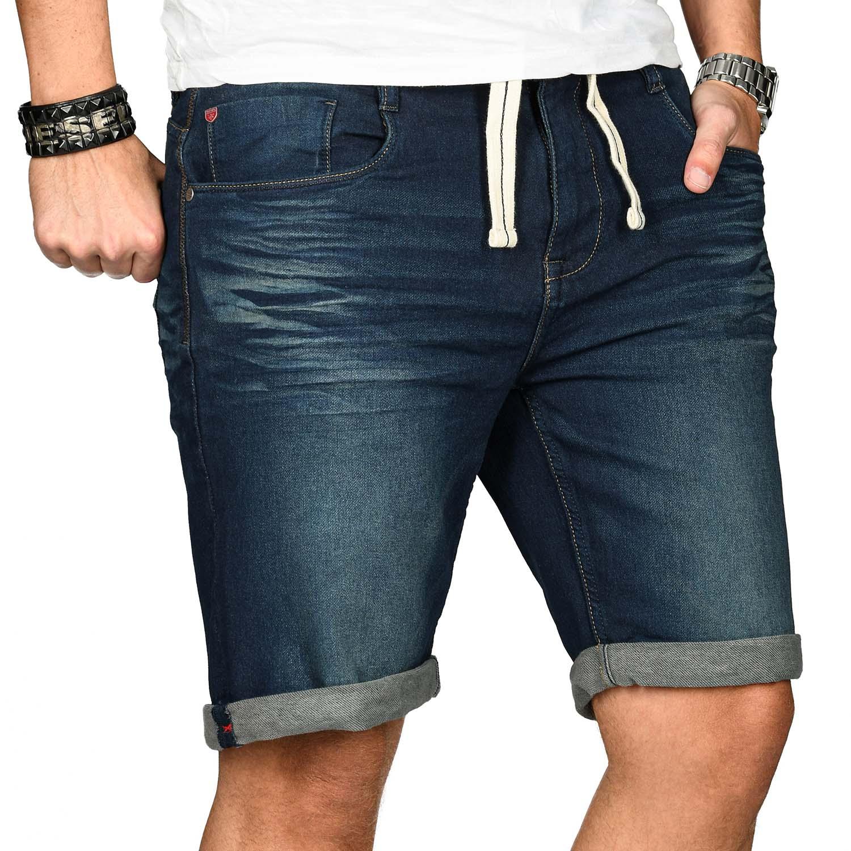 Sublevel-Herren-Shorts-Sweat-Jeans-kurze-Hose-Bermuda-Sommer-Short-Sweathose Indexbild 18