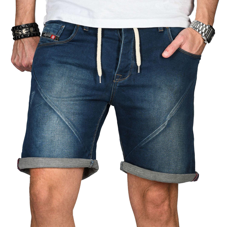 A-Salvarini-Herren-Jeans-Short-kurze-Hose-Sommer-Shorts-Bermuda-Comfort-fit-NEU Indexbild 23