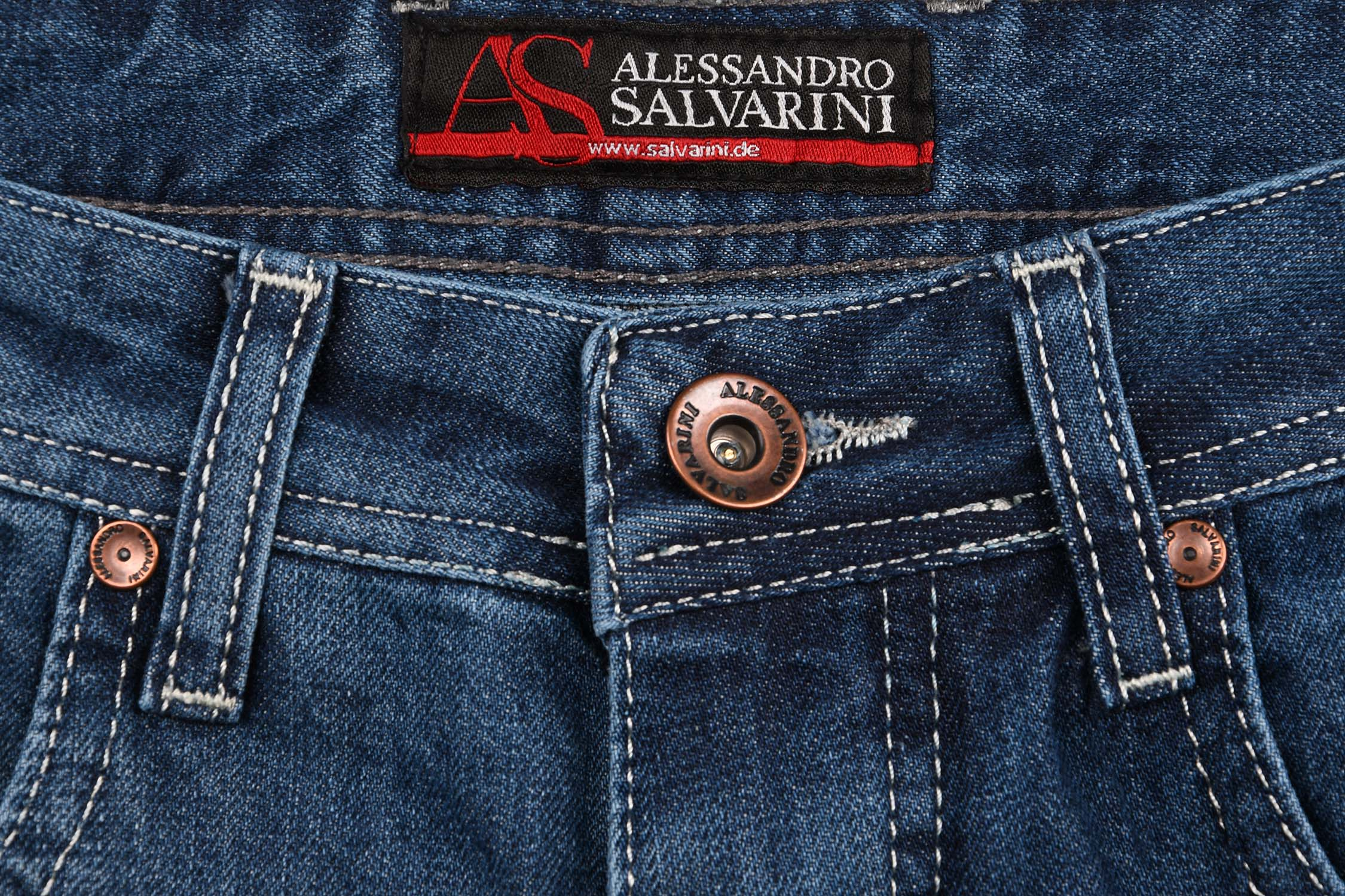 A-Salvarini-Designer-Herren-Jeans-Short-kurze-Sommer-Hose-Jeansshorts-Bermuda Indexbild 13