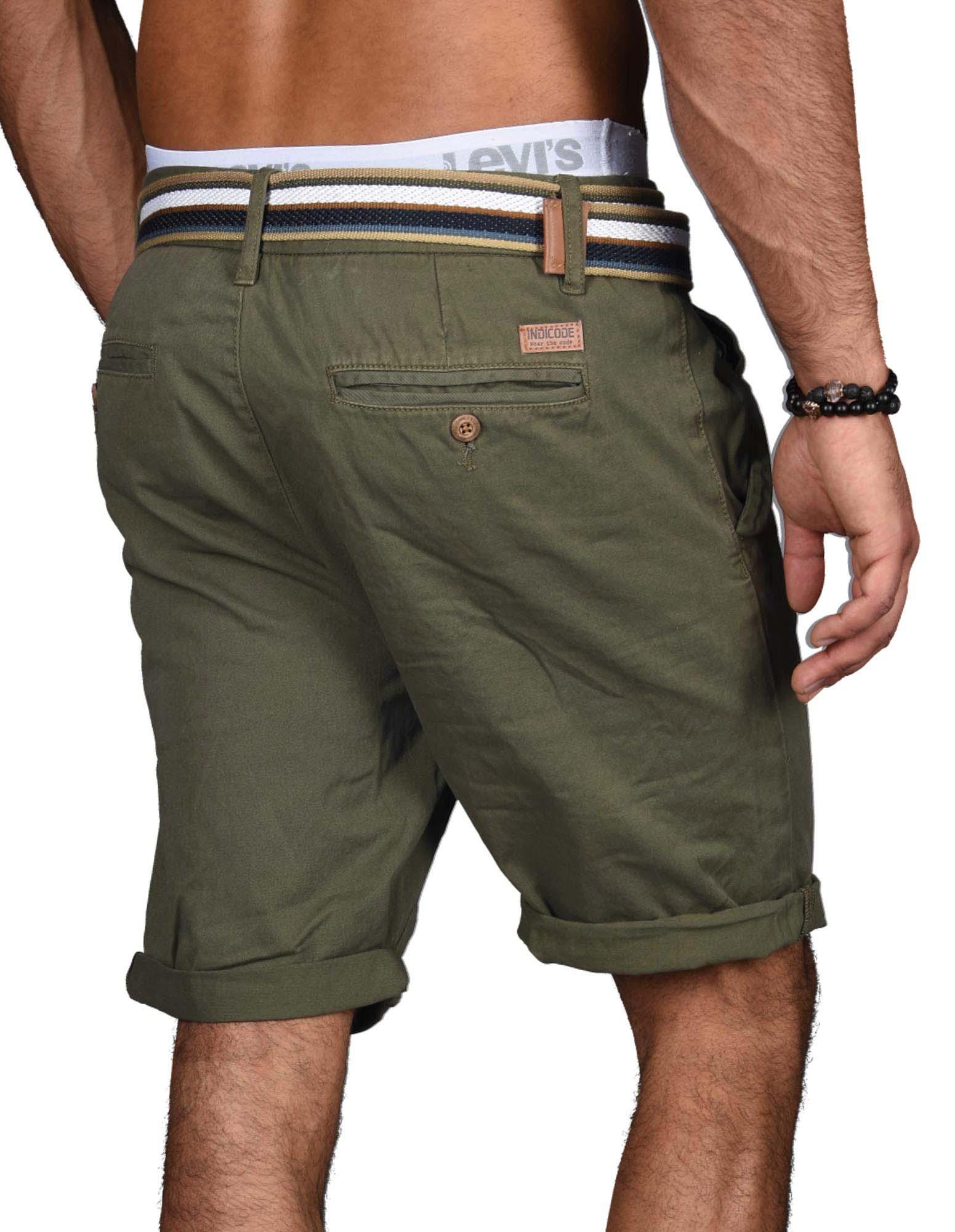 Indicode-Herren-Sommer-Bermuda-Chino-Shorts-kurze-Hose-Sommerhose-Short-NEU-B499 Indexbild 20