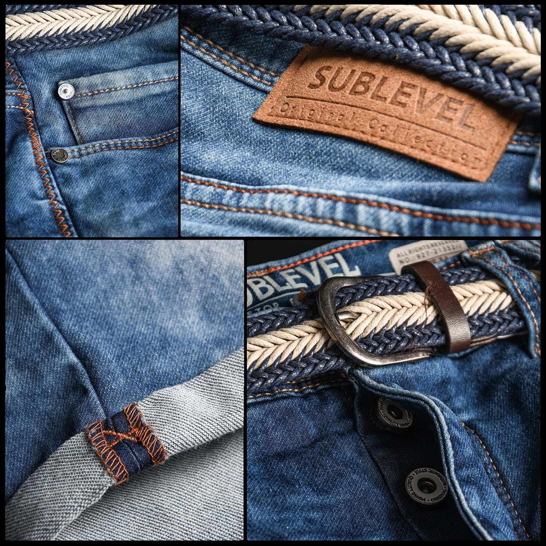 Sublevel-Herren-Shorts-Sweat-Jeans-kurze-Hose-Bermuda-Sommer-Short-Sweathose Indexbild 6