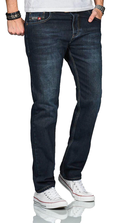 A-Salvarini-Beppo-Designer-Herren-Jeans-Hose-Basic-Jeanshose-Comfort-Fit Indexbild 20