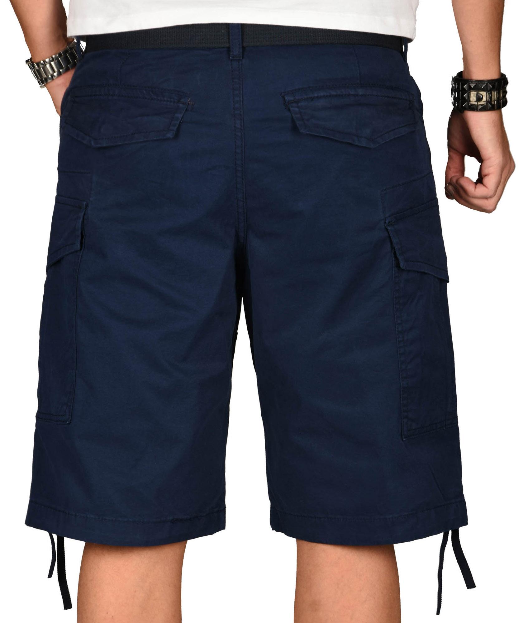 A-Salvarini-Herren-Comfort-Cargo-Shorts-Cargoshorts-kurze-Hose-Guertel-AS133-NEU Indexbild 21
