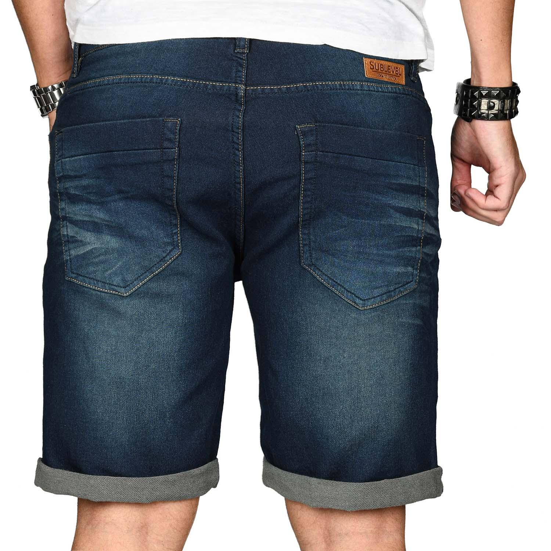 Sublevel-Herren-Shorts-Sweat-Jeans-kurze-Hose-Bermuda-Sommer-Short-Sweathose Indexbild 20