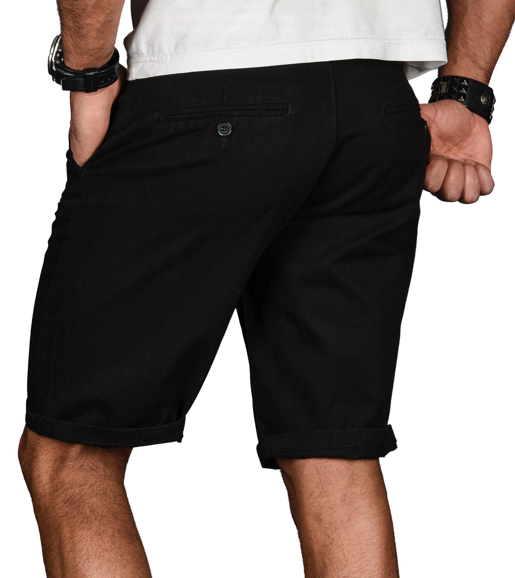 A-Salvarini-Herren-Shorts-kurze-Sommer-Hose-mit-Guertel-Short-Bermuda-NEU-AS096 Indexbild 6