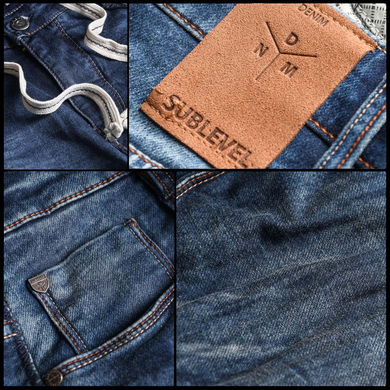 Sublevel-Herren-Shorts-Sweat-Jeans-kurze-Hose-Bermuda-Sommer-Short-Sweathose Indexbild 11