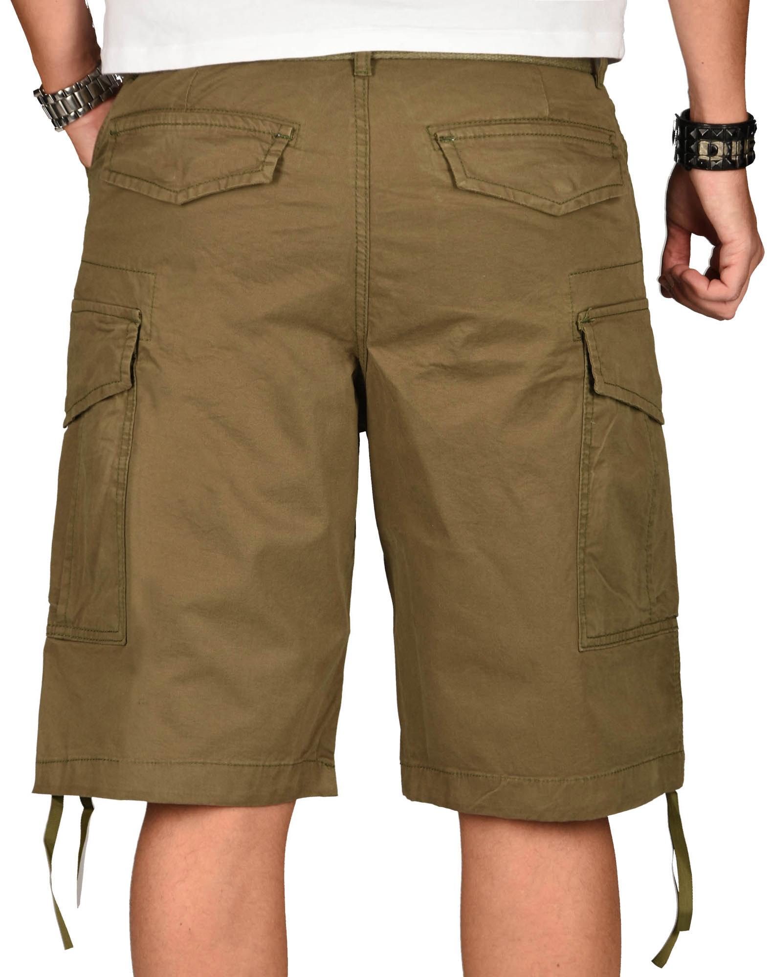 A-Salvarini-Herren-Comfort-Cargo-Shorts-Cargoshorts-kurze-Hose-Guertel-AS133-NEU Indexbild 25