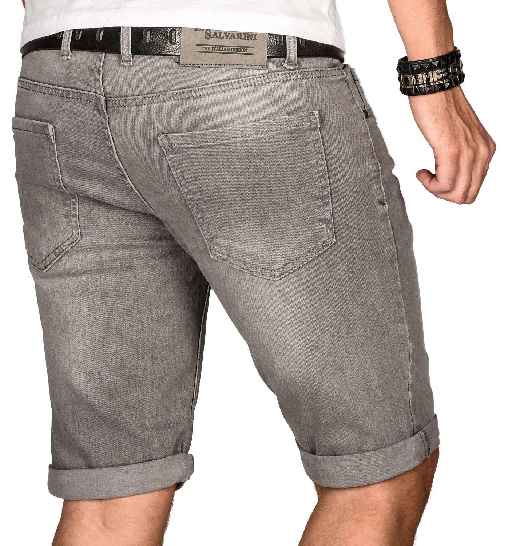 A-Salvarini-Herren-Designer-Jeans-Short-kurze-Hose-Slim-Sommer-Shorts-Bermuda Indexbild 17