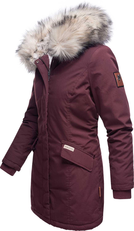 Navahoo-Premium-Damen-Winter-Jacke-Parka-Mantel-Winterjacke-warm-Kunstfell-B669 Indexbild 30