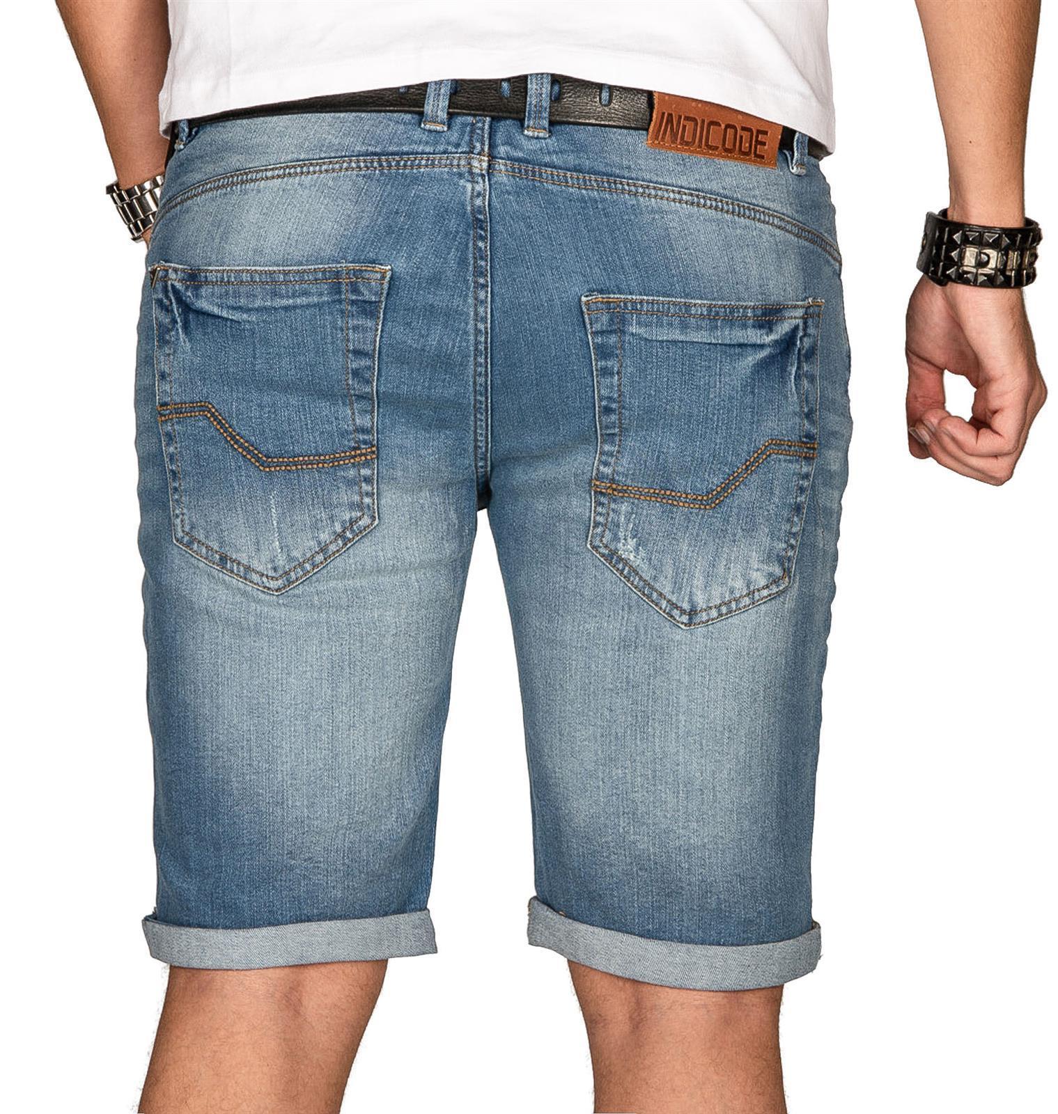 Indicode-Herren-Sommer-Bermuda-Jeans-Shorts-kurze-Hose-Sommerhose-Short-Neu-B556 Indexbild 13