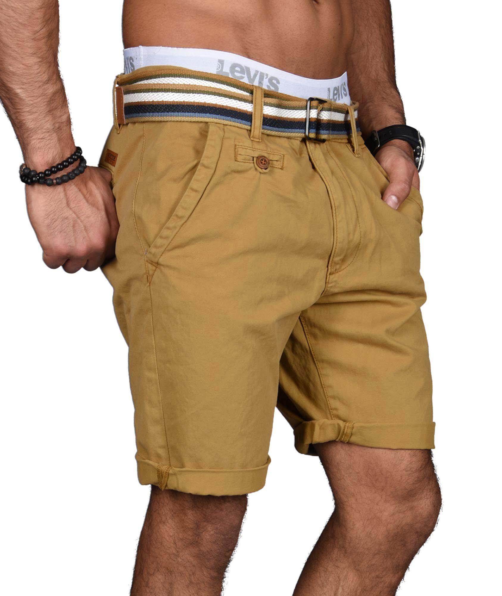 Indicode-Herren-Sommer-Bermuda-Chino-Shorts-kurze-Hose-Sommerhose-Short-NEU-B499 Indexbild 7