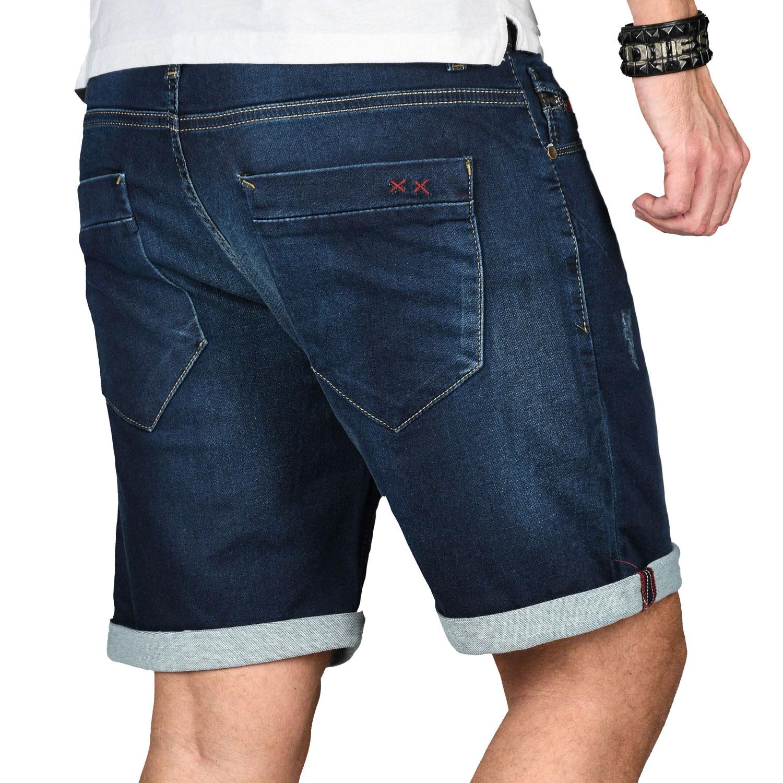 A-Salvarini-Herren-Jeans-Short-kurze-Hose-Sommer-Shorts-Bermuda-Comfort-fit-NEU Indexbild 18