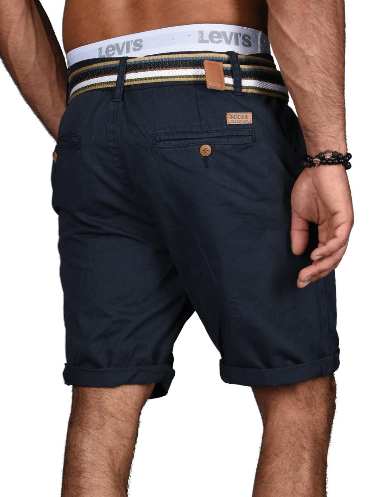 Indicode-Herren-Sommer-Bermuda-Chino-Shorts-kurze-Hose-Sommerhose-Short-NEU-B499 Indexbild 16