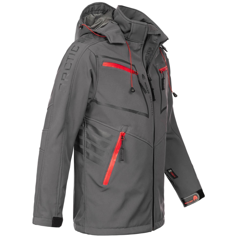 Arctic-Seven-Herren-Designer-Softshell-Funktions-Outdoor-Regen-Jacke-Sport-AS088 Indexbild 16