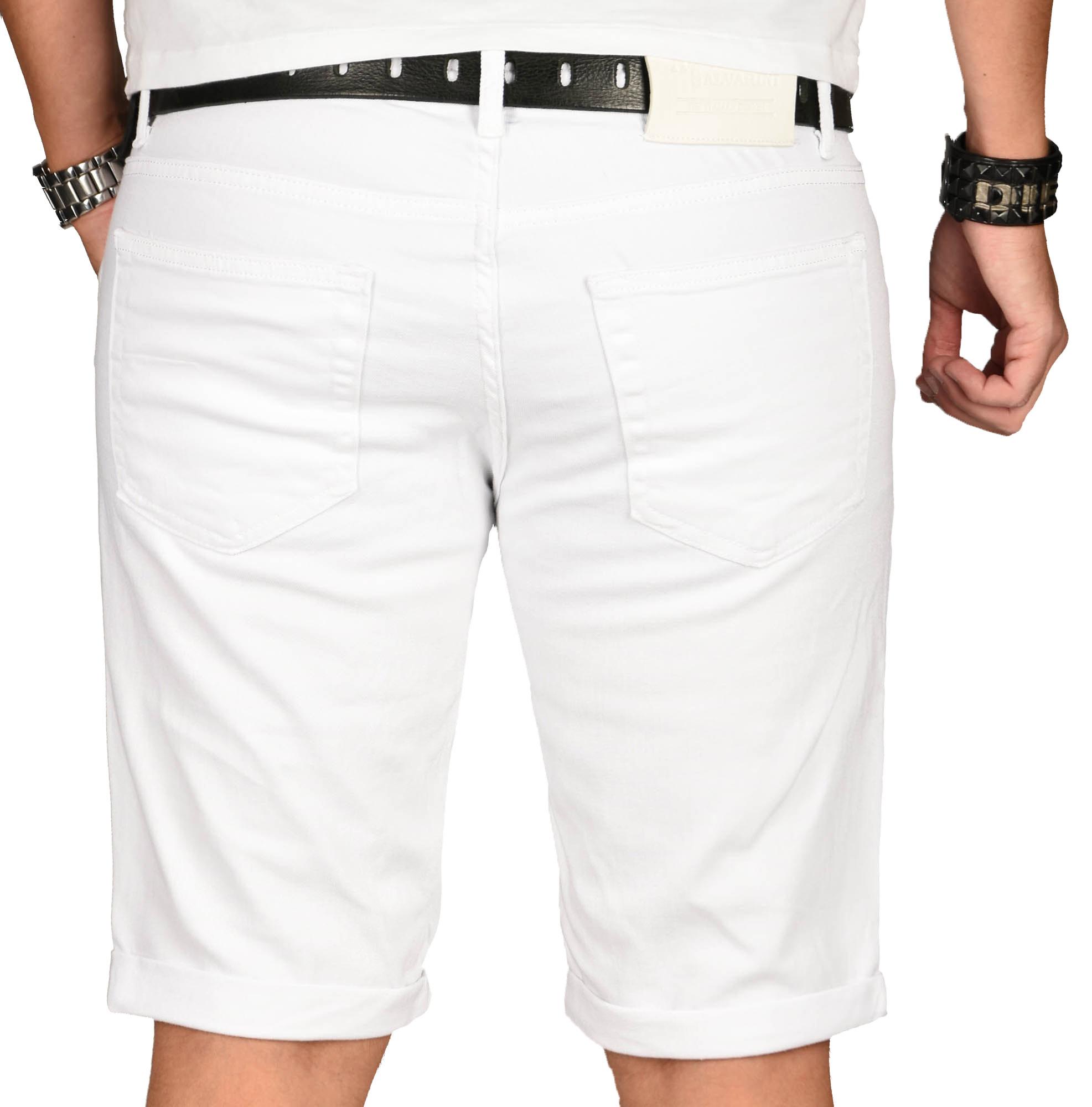 A-Salvarini-Herren-Designer-Jeans-Short-kurze-Hose-Slim-Sommer-Shorts-Washed Indexbild 5