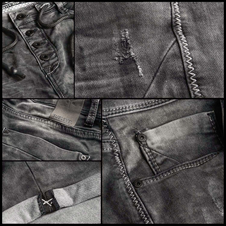 Sublevel-Herren-Shorts-Sweat-Jeans-kurze-Hose-Bermuda-Sommer-Short-Sweathose Indexbild 31