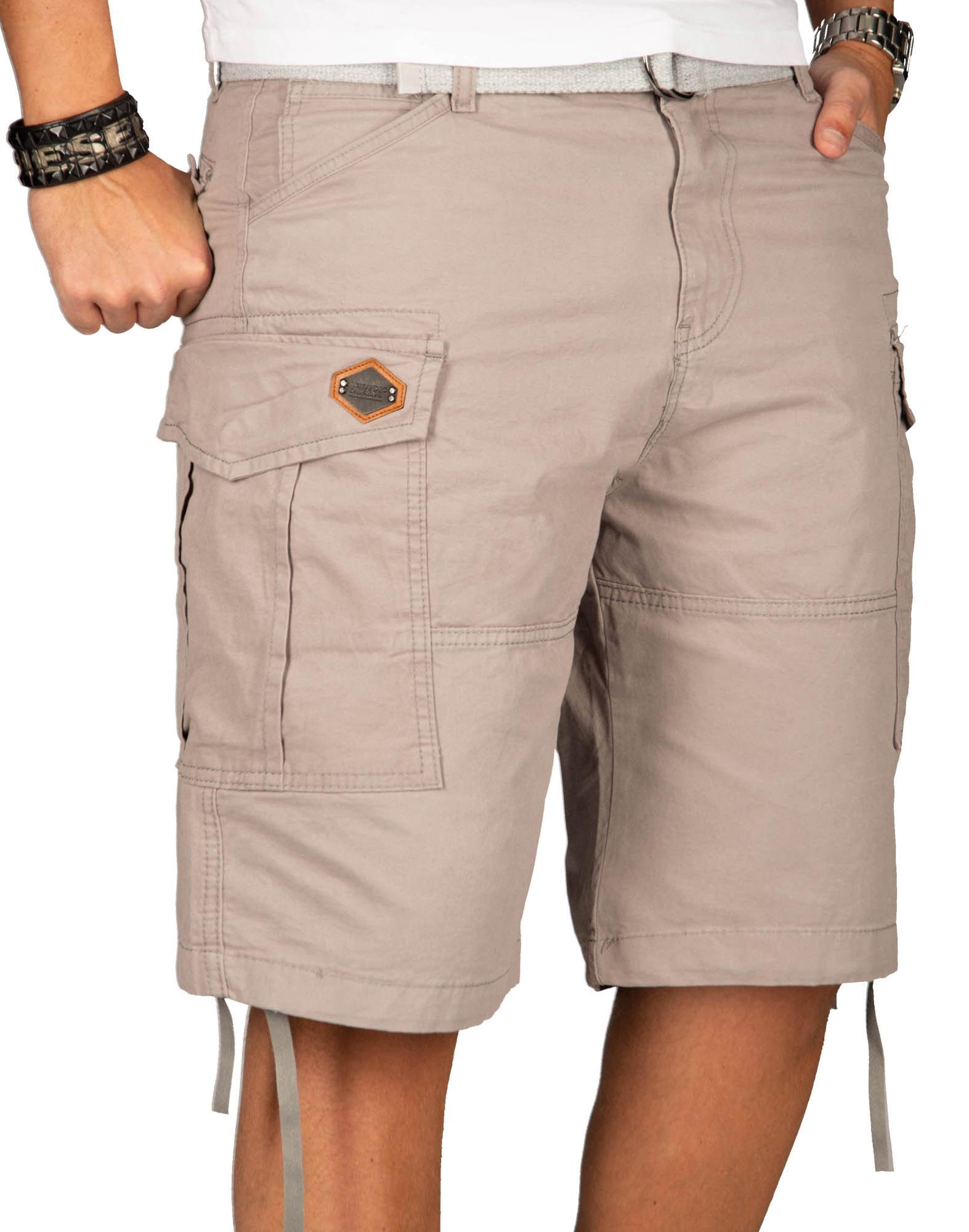 A-Salvarini-Herren-Comfort-Cargo-Shorts-Cargoshorts-kurze-Hose-Guertel-AS133-NEU Indexbild 15