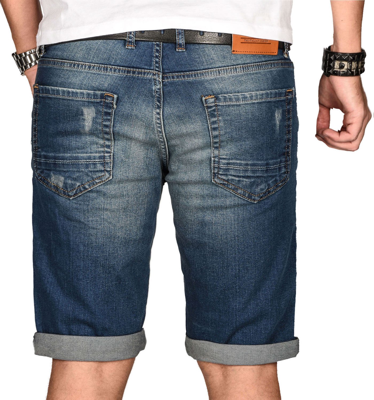 A-Salvarini-Herren-Designer-Jeans-Short-kurze-Hose-Slim-Sommer-Shorts-Bermuda Indexbild 43