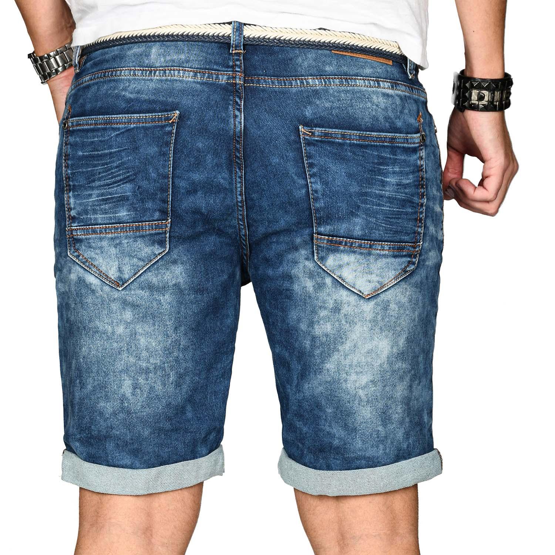 Sublevel-Herren-Shorts-Sweat-Jeans-kurze-Hose-Bermuda-Sommer-Short-Sweathose Indexbild 5