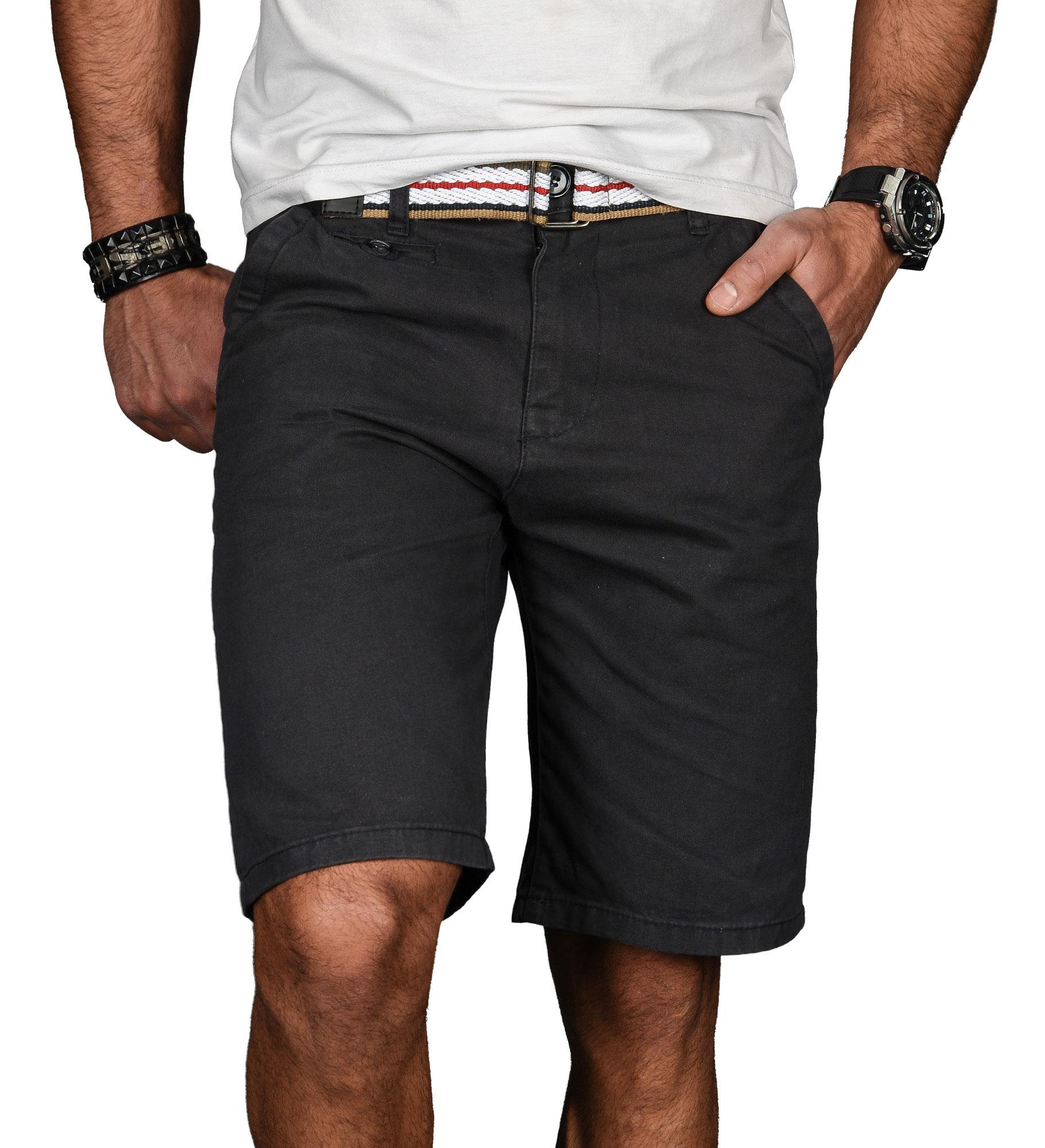 A-Salvarini-Herren-Shorts-kurze-Sommer-Hose-mit-Guertel-Short-Bermuda-NEU-AS096 Indexbild 16