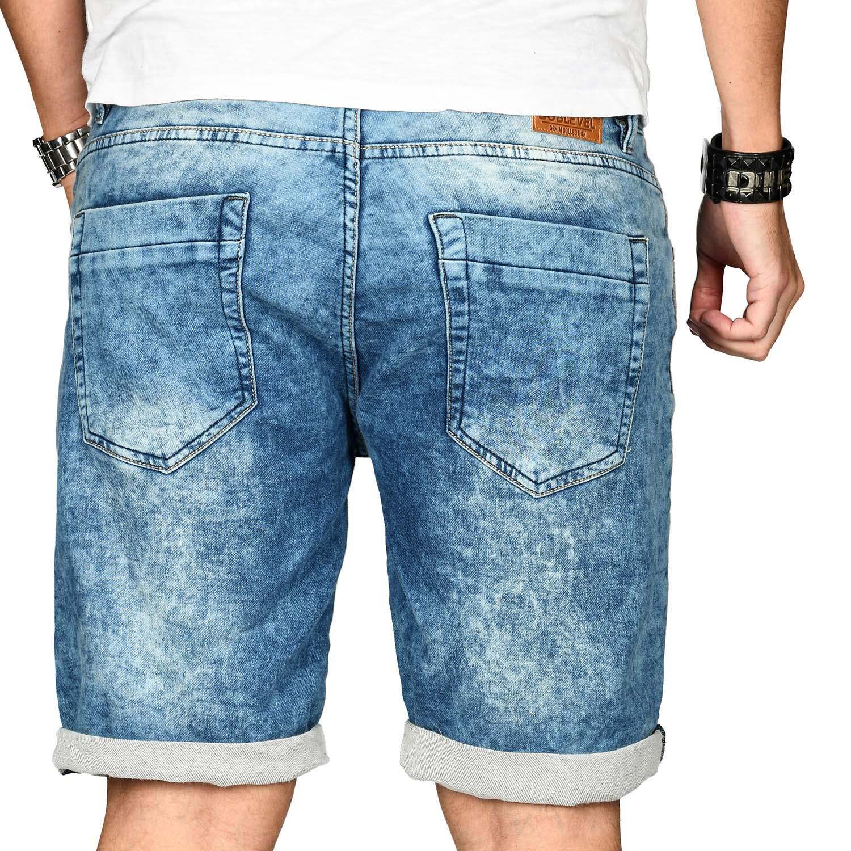 Sublevel-Herren-Shorts-Sweat-Jeans-kurze-Hose-Bermuda-Sommer-Short-Sweathose Indexbild 15