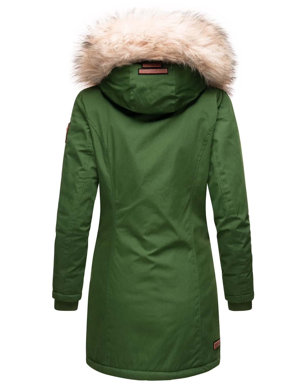 Stofftasche Premium B845 Navahoo Damen Winter Jacke Parka Mantel Teddyfell warm gef/üttert inkl