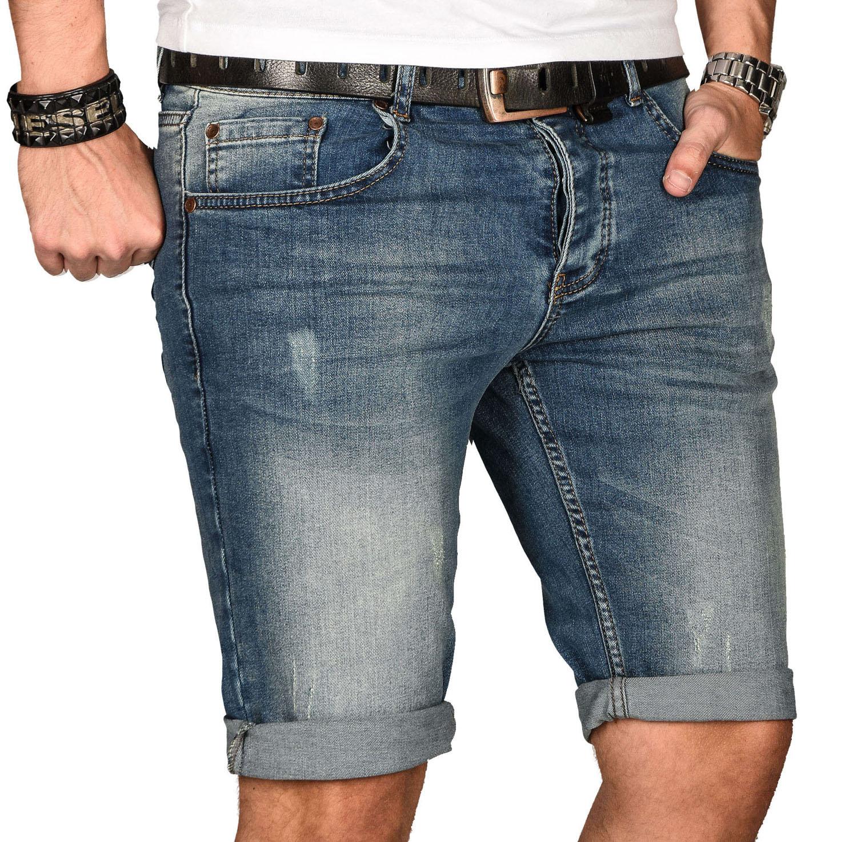 A-Salvarini-Herren-Designer-Jeans-Short-kurze-Hose-Slim-Sommer-Shorts-Bermuda Indexbild 8
