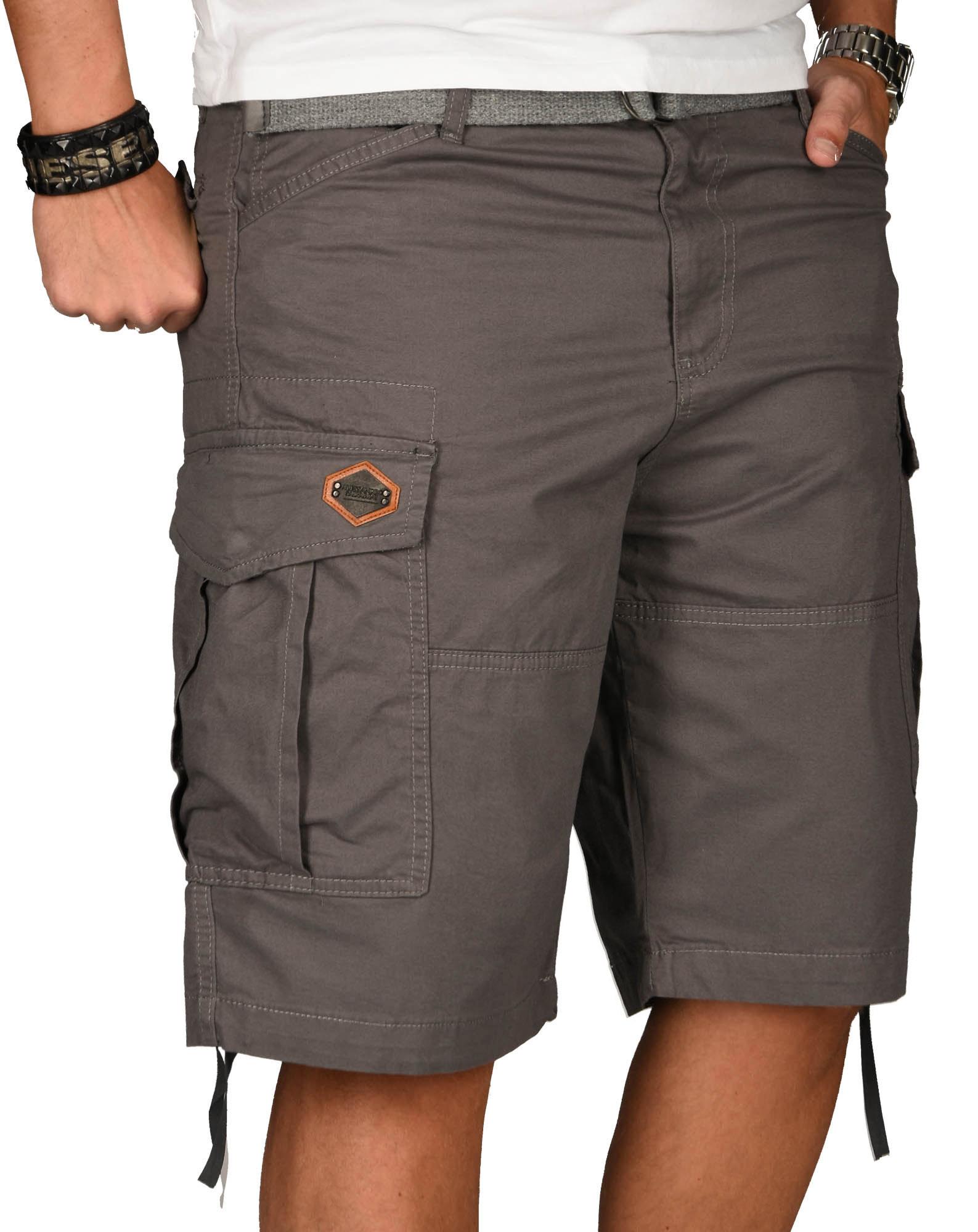 A-Salvarini-Herren-Comfort-Cargo-Shorts-Cargoshorts-kurze-Hose-Guertel-AS133-NEU Indexbild 11