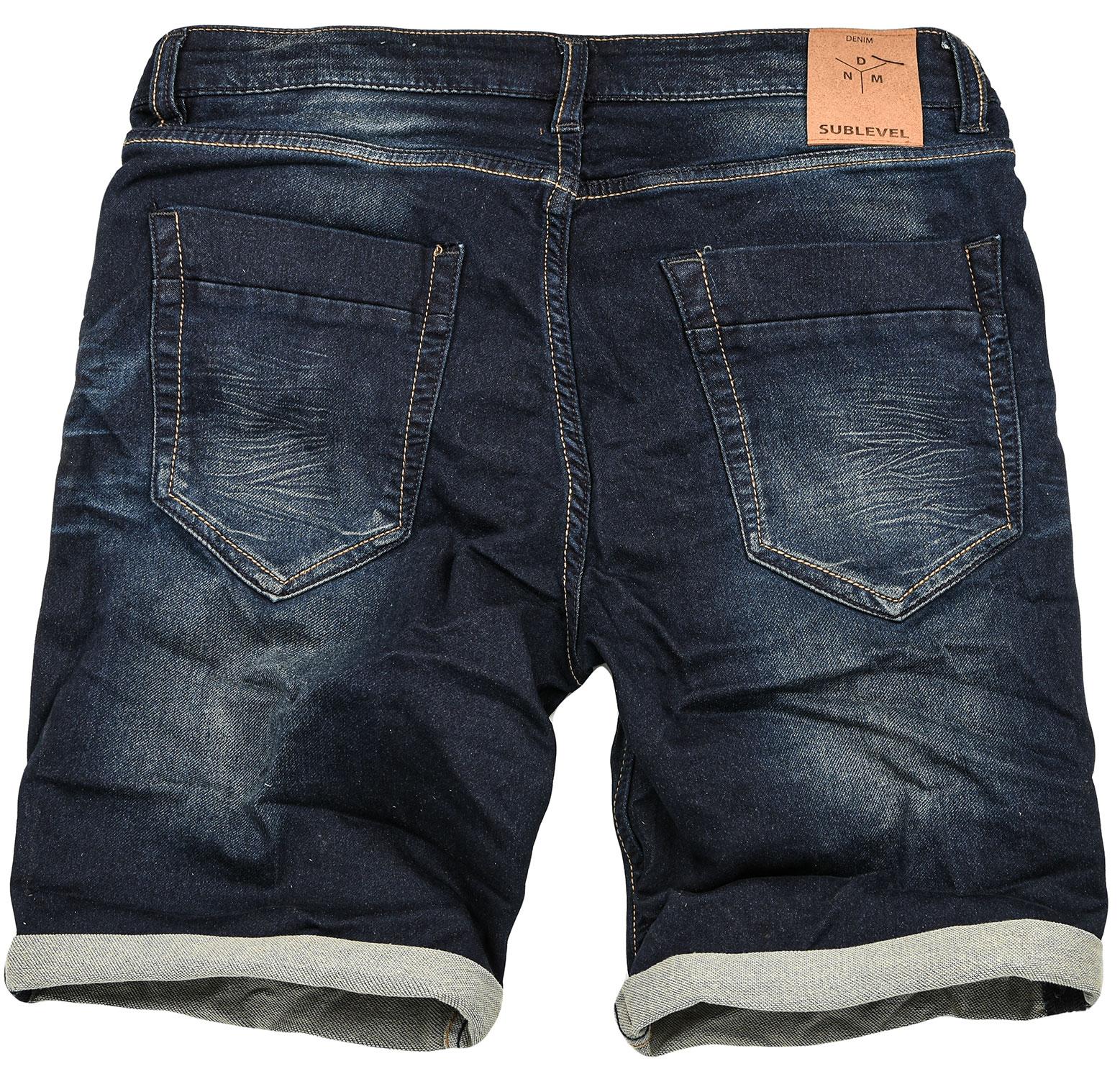 Sublevel-Herren-Sweat-Jeans-Shorts-kurze-Hose-Bermuda-Sommer-Sweathose-Slim-NEU Indexbild 37
