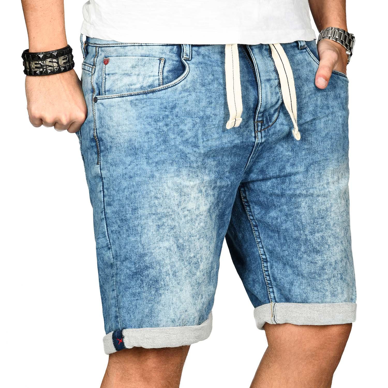 Sublevel-Herren-Shorts-Sweat-Jeans-kurze-Hose-Bermuda-Sommer-Short-Sweathose Indexbild 13