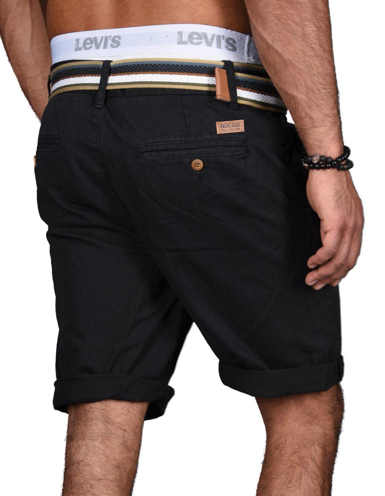 Indicode-Herren-Sommer-Bermuda-Chino-Shorts-kurze-Hose-Sommerhose-Short-NEU-B499 Indexbild 28