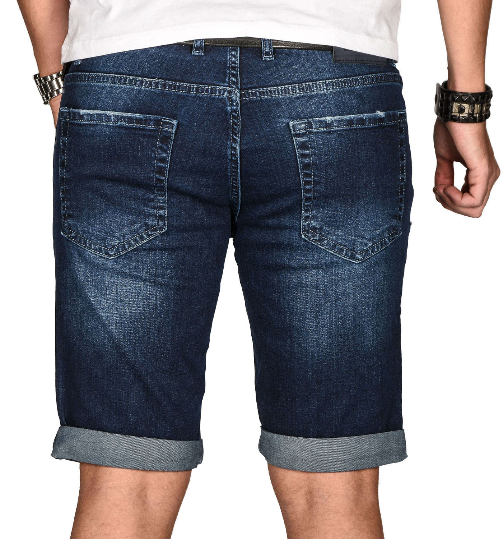 A-Salvarini-Herren-Designer-Jeans-Short-kurze-Hose-Slim-Sommer-Shorts-Bermuda Indexbild 39