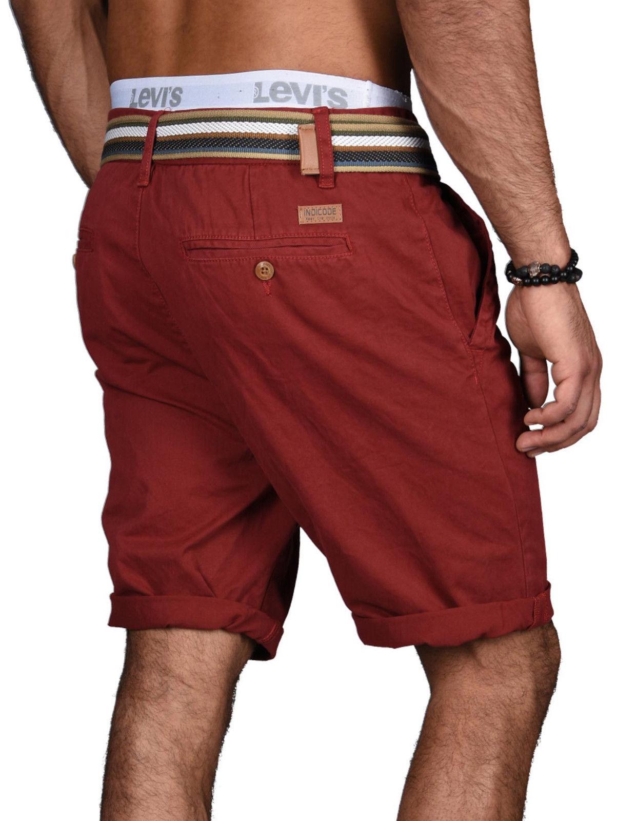 Indicode-Herren-Sommer-Bermuda-Chino-Shorts-kurze-Hose-Sommerhose-Short-NEU-B499 Indexbild 24