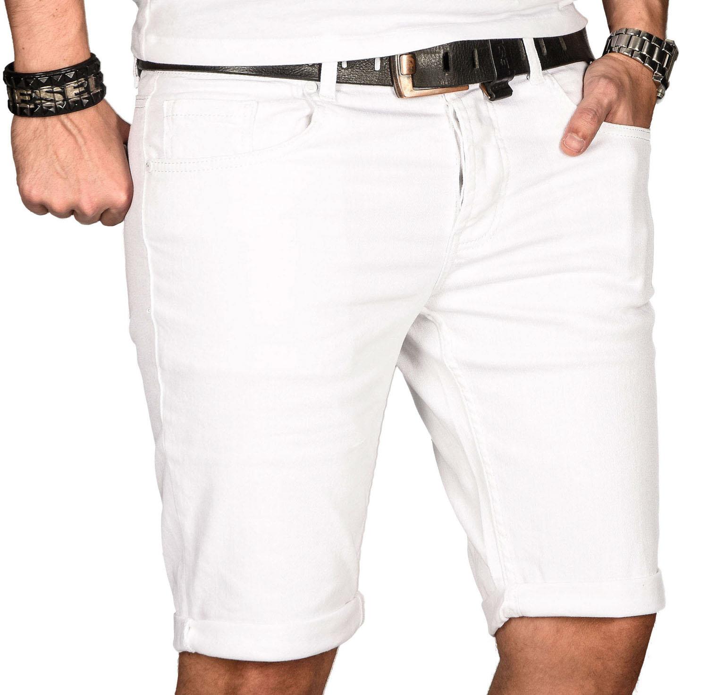 A-Salvarini-Herren-Designer-Jeans-Short-kurze-Hose-Slim-Sommer-Shorts-Bermuda Indexbild 33