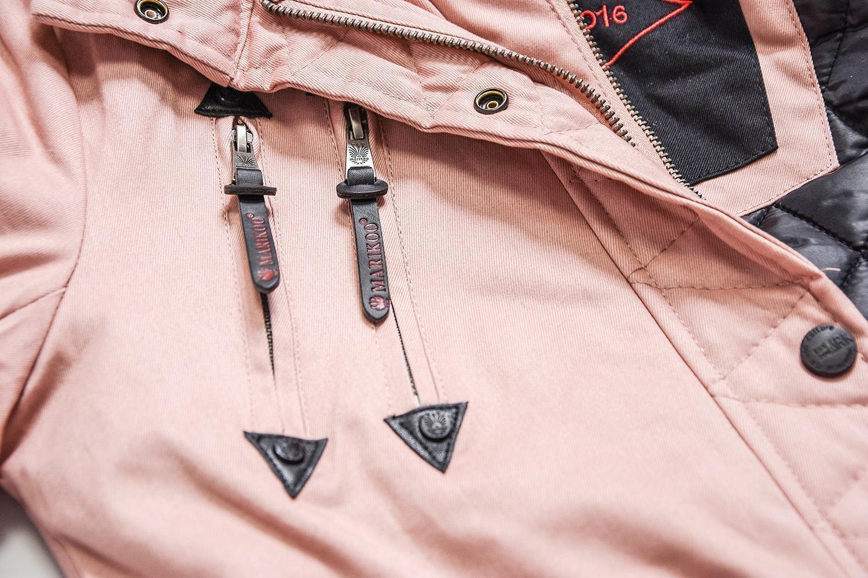 Marikoo Rose Damen Designer Winter Jacke warme Winterjacke Parka Mantel B390