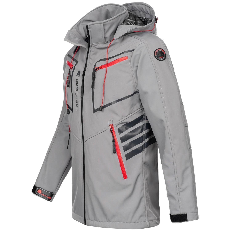Arctic-Seven-Herren-Designer-Softshell-Funktions-Outdoor-Regen-Jacke-Sport-AS088 Indexbild 21