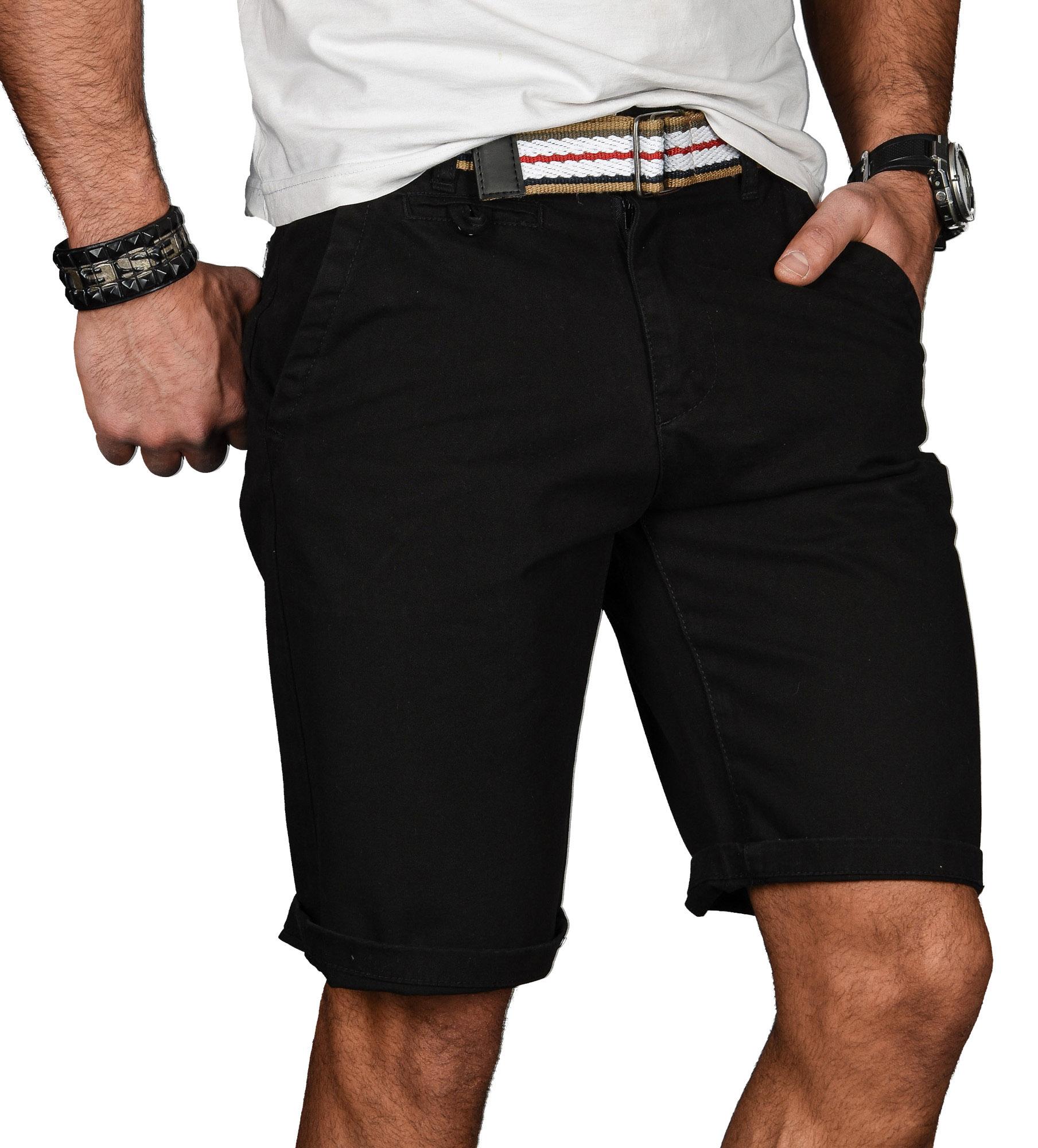 A-Salvarini-Herren-Shorts-kurze-Sommer-Hose-mit-Guertel-Short-Bermuda-NEU-AS096 Indexbild 7