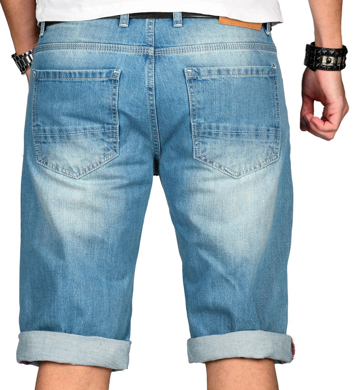 A-Salvarini-Designer-Herren-Jeans-Short-kurze-Sommer-Hose-Jeansshorts-Bermuda Indexbild 5