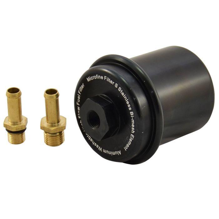 Kraftstofffilter Benzin Filter Tuning Motorsport High Flow Schwarz AN6 Dash 6