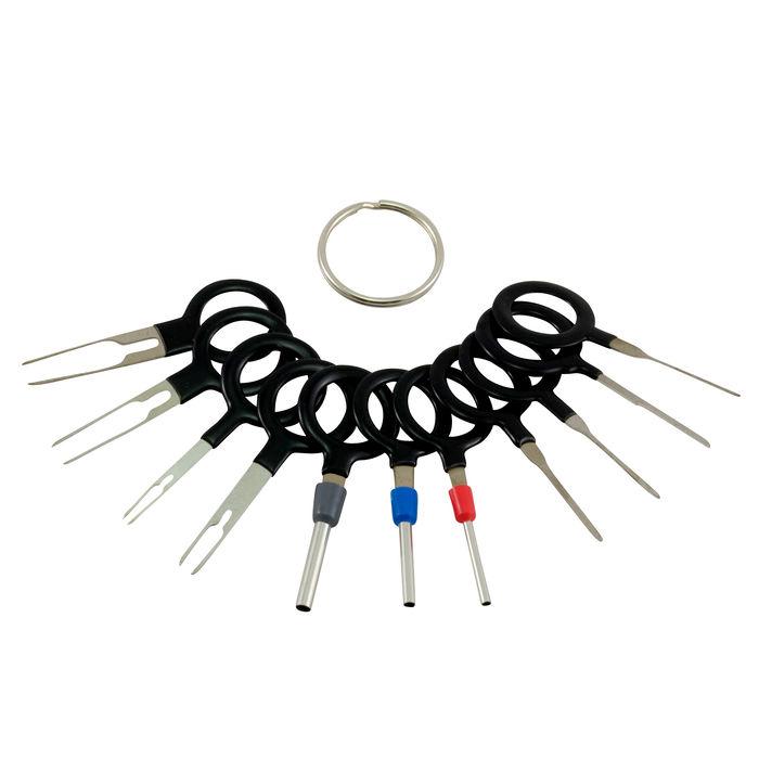 18 tlg Entriegelungswerkzeug Set KFZ Stecker Auspinwerkzeug ISO Pin Lösewerkzeug