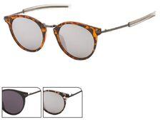 Sonnenbrille Panto Retro Round Glasses 400 UV Steg hoch geschwungen Metallbügel