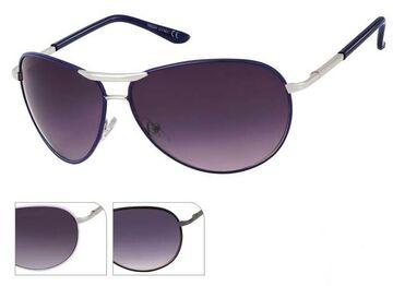 Sonnenbrille Unisex Pilotenbrille Pornobrille getönt 400UV breit Steg Fliegerbri